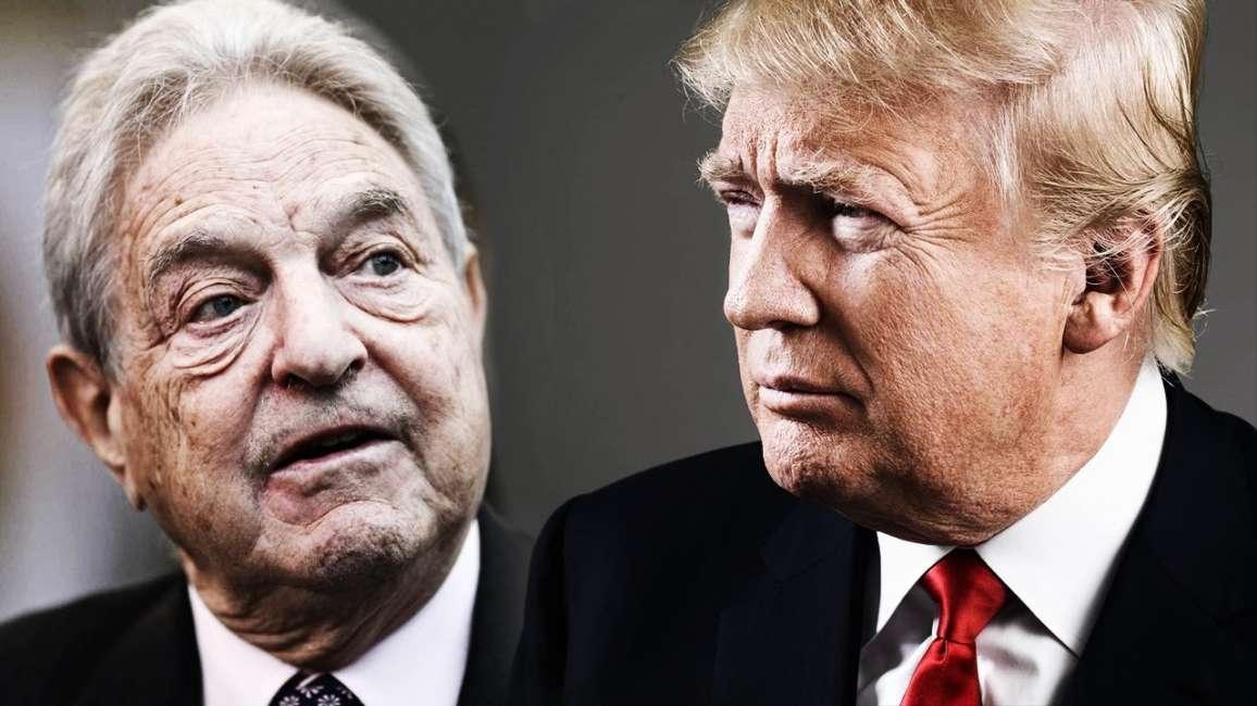 Risultati immagini per Soros e Trump immagini